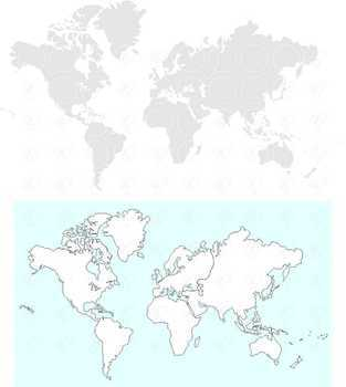 World Continents Clipart by Poppydreamz