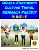 World Geography and Culture Fun Research Project BUNDLE  -