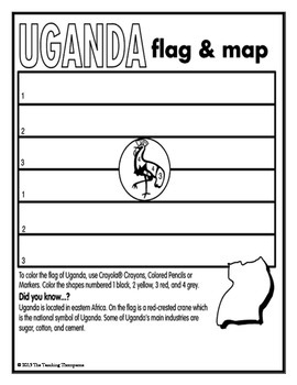 Flags of World Countries Coloring Pages and Worksheets