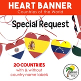 World Countries Heart Banner