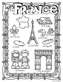 World Countries Research Book ~ French