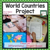 World Country Research Project with Rubric Grade 3