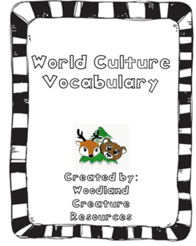 World Culture Basic Terminology PPT and Notes Page