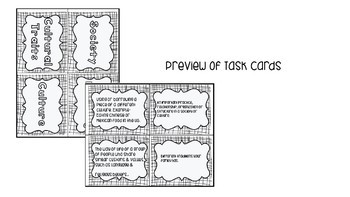 World Culture Vocabulary with Task Cards