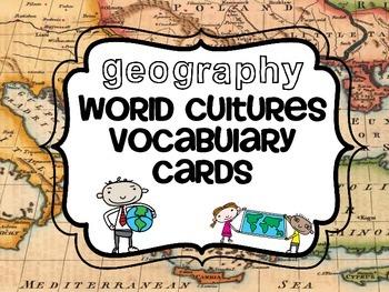 World Cultures Vocabulary Cards