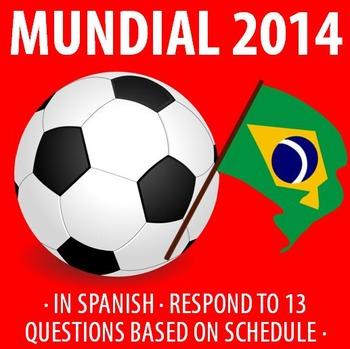 Spanish - World Cup 2014 - Fun Activity