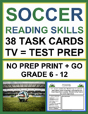 Soccer ELA Activities - CCSS-Aligned TV-Viewing Prompts