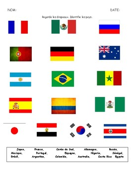 World Cup 2018 - Flags and Countries