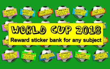 World Cup 2018 Reward Stickers