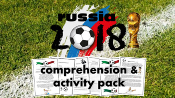 World Cup 2018 Russia - Reading Comprehension, Quiz, Math, Crossword, Wordsearch