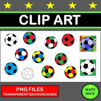 Soccer Balls Clip Art