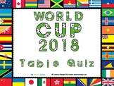 World Cup 2018 Table Quiz