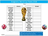 World Cup 2018 Teams Anagrams Puzzle Sheet Starter Activit