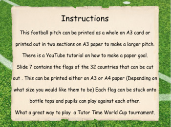 World Cup 2018 Tutor Time activity