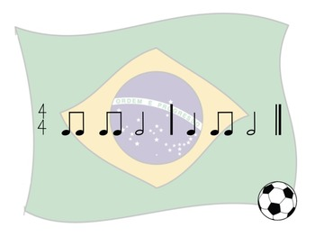 World Cup - A 2 Bar Rhythm Challenge Game to Practice Half Notes