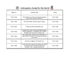 World Cup Anticipatory Guide - Copa Mundial