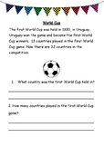 World Cup Comprehension