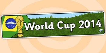 World Cup Display Banner