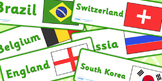 World Cup Football Country and Flag Labels