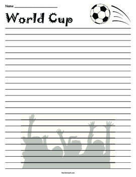 World Cup Lined Paper
