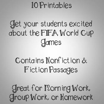 World Cup Soccer Reading Comprehension Passages