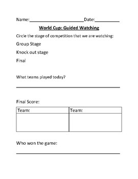 World Cup Watching Guide