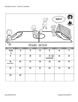World Cup activity book to practice Español