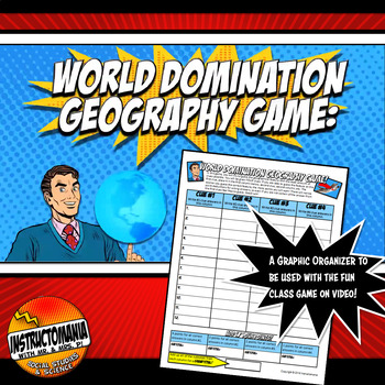 World Domination Geography Game Answer Document