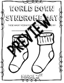 World Down Syndrome Day Posters/Colouring Sheet