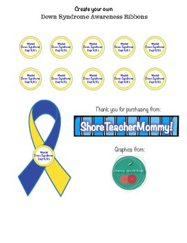 World Down Syndrome Day Ribbons Freebie