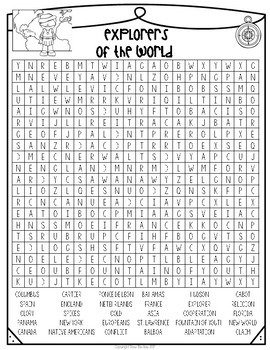 World Explorers Word Search