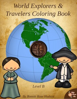 World Explorers and Travelers Coloring Book