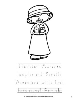 World Explorers and Travelers Coloring Book-Level B