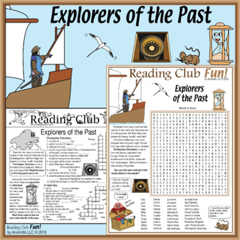 World Explorers of the Past Two-Page Activity Set