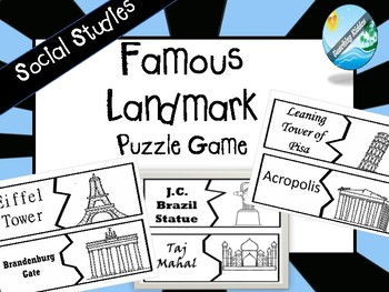 World Famous Landmarks Puzzle Game