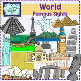 World Famous sights - landmarks clipart {Social studies clip art}