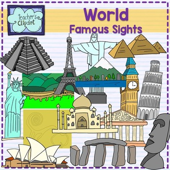 World Famous sights - landmarks clipart {Social studies clip art}