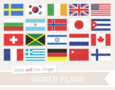 World Flag Clipart; International, Country, USA, United States, America