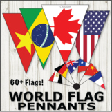 World Flag Pennants