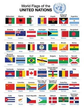 World Flag Flash Card Set
