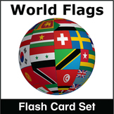 World Flags Flash Card Set