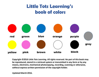 Colors and Counting 1 (eBook)