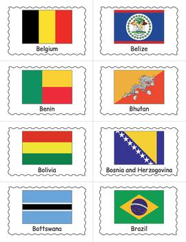 World Flags Bingo Game