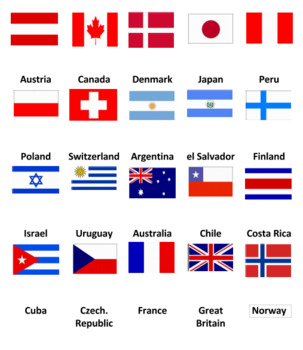 World Flags Concentration Game