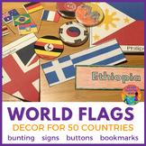 World Flags Decor