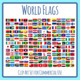 World Flags - Flags for the 195 Countries of the World High Resolution Clip Art