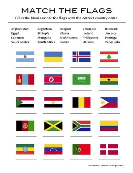 World Flags Geography Quiz #2