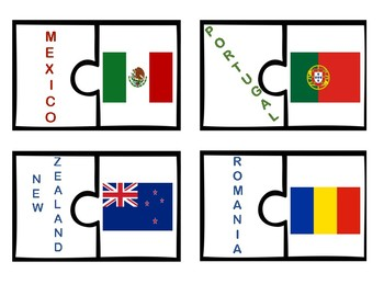 World Flags Puzzle Match