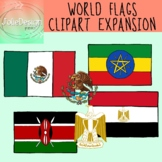 World Flags SUPPLEMENTAL Clipart - Color and Blackline 12