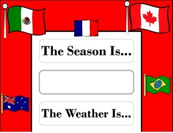 World Flags Weather Chart! World Flags Bulletin Board! World Flag Travel Theme!